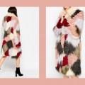 ASOS Swing Coat in Patchwork Faux Fur