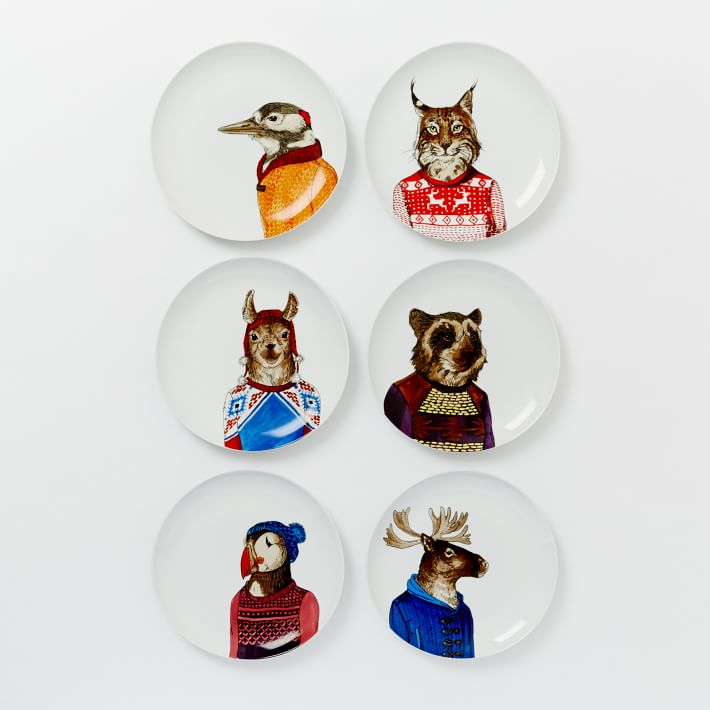 plates on the wall