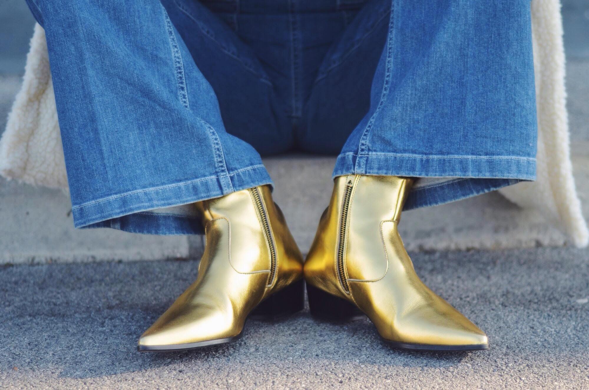 GOLD ZARA BOOTS