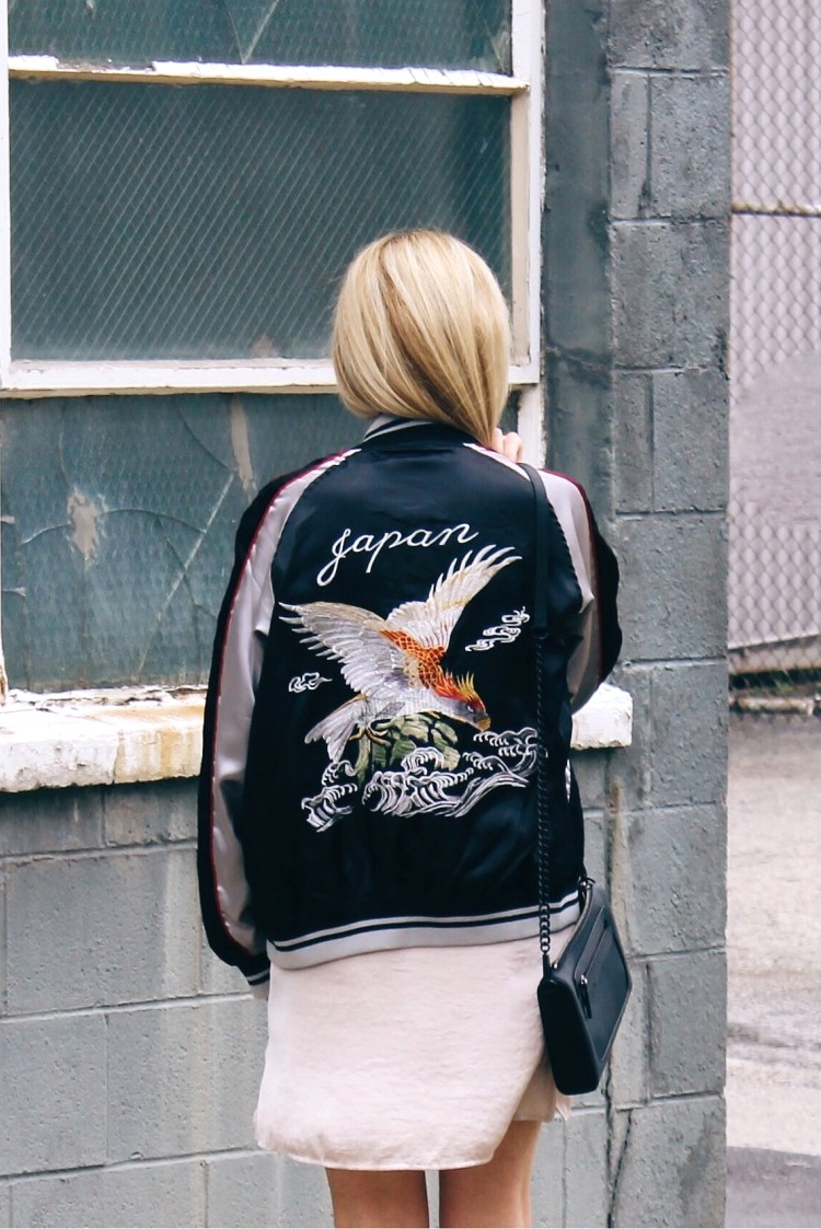 EMBROIDERED SILK BOMBER JACKETS