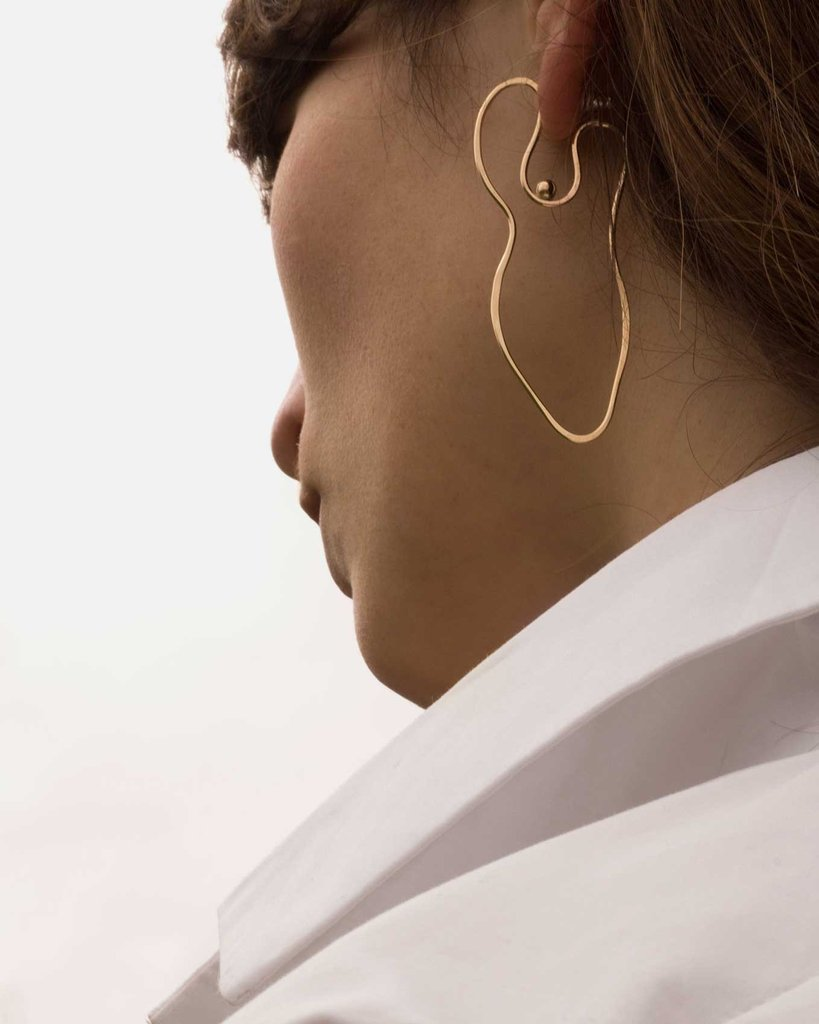 quirky wire-shaped earrings
