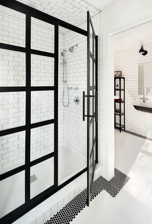 Interior Trend Steel Framed Shower Doors Little Fashion